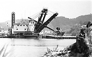 Dredger working at Gamboa in the Panama Canal.