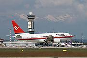 EI-FFM AirItaly Boeing 737 Next Gen passenger jet at takeoff Photographed at Malpensa Airport, Milan, Italy