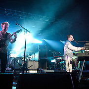 COLUMBIA, MD - July 22nd, 2012 - Al Doyle and Alexis Taylor of Hot Chip perform at Merriweather Post Pavilion in Columbia, MD. The band released their fifth studio album, In Our Heads, in April.  (Photo by Kyle Gustafson/For The Washington Post)