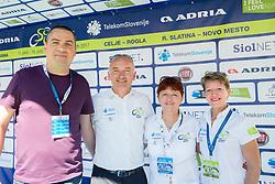 Rudolf Skobe, Bogdan Fink, Mojca Novak and Sonja Gole after the last Stage 4 of 24th Tour of Slovenia 2017 / Tour de Slovenie from Rogaska Slatina to Novo mesto (158,2 km) cycling race on June 18, 2017 in Slovenia. Photo by Vid Ponikvar / Sportida