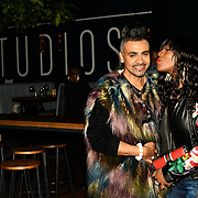 Jay Kamiraz - Mr Fabulous and Corene Campbell attend BBC Club at W12 Studios Lunch party on 14 March 2019, London, UK.