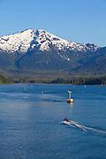 Alaska Ferry through, Wrangell Narrows, Alaska