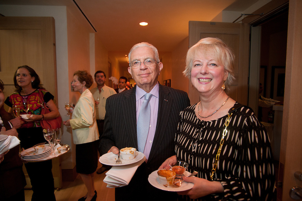 The Four Seasons Residences Austin hosted a party Friday night for current, future and prospective residents. In attendance were residents Ernst and Jeanette Auerbach.
