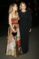 """Juno Temple and Kate Winslet attend a screening of """"Wonder Wheel"""" at the Museum of Modern Art in New York."""