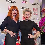 NLD/Amsterdam/20160118 -  Beau Monde Awards 2016, Lone van Roosendaal en ......