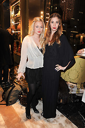 Left to right, ALEXANDRA HOFFNUNG and ANOUSHKA BECKWITH at a Cocktail party to celebrate the opening of the new Miu Miu boutique, 150 New Bond Street, London hosted by Miuccia Prada and Patrizio Bertelli on 3rd December 2010.