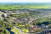 Nederland, Noord-Holland, Amsterdam, 27-09-2015; Amsterdam-Noord, Nieuwendam met Nieuwe Leeuwarderweg. IJplein en Vogelbuurt, Tuindorp Buiksloot en WH Vliegenbos. Landelijk Noord en Waterland met IJsselmeer in het verschiet.<br /> Amsterdam North.<br /> luchtfoto (toeslag op standard tarieven);<br /> aerial photo (additional fee required);<br /> copyright foto/photo Siebe Swart