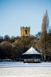 Dispite the chaos and misery the sub zero temperatures that have hit Britain also bring a beauty of thier own. Ecclesfield Church and Bandstand in Ecclesfield Park Sheffield 8 Jan 2010 Copyright Paul David Drabble