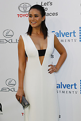 BURBANK, CA - OCTOBER 22: Actress Emmanuelle Chriqui attends the 26th annual EMA Awards presented by Toyota and Lexus and hosted by the Environmental Media Association at Warner Bros. Studios on October 22, 2016 in Burbank, California. Byline, credit, TV usage, web usage or linkback must read SILVEXPHOTO.COM. Failure to byline correctly will incur double the agreed fee. Tel: +1 714 504 6870.