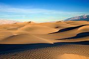Sand dunes at sunrise.Death Valley National Park,California