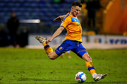 Ollie Clarke of Mansfield Town prepares to take a shot - Mandatory by-line: Ryan Crockett/JMP - 17/02/2021 - FOOTBALL - One Call Stadium - Mansfield, England - Mansfield Town v Bolton Wanderers - Sky Bet League Two
