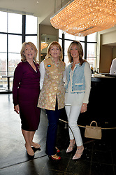 Left to right, JUDY NAAKE, CLARA WEATHERALL and CAROLINE ARMSTRONG-JONES at a ladies lunch in aid of the charity Maggie's held at Le Cafe Anglais, 8 Porchester Gardens, London on 29th April 2014.