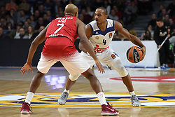 January 27, 2017 - Madrid, Madrid, Spain - Dontaye Draper, #4 of Real Madrid in action during the Euroleague basketball match between Real Madrid and EA7 Emporio Armani Milano. (Credit Image: © Jorge Sanz GarcíA/Pacific Press via ZUMA Wire)