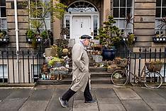 Garden in the city street, Edinburgh, 30 April 2020