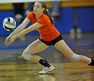 Amherst vs North Olmsted high school varsity volleyball at Midview High School on October 21, 2010. © David Richard