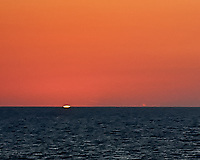 Sunset over the Atlantic Ocean from the deck of the M/V Explorer while traveling from Nassau, Bahamas to San Juan, Puerto Rico. Image taken with a Nikon D3s camera and 24-70 mm f/2.8 lens (ISO 200, 70 mm, f/4, 1/200 sec).