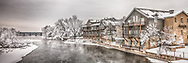 Gray is stunningly beautiful and moody in winter on the Fox River in Geneva, IL. It conjures up images of guests reading a book fireside in their cozy rooms at the Herrington Inn. Outside are frocked trees and clear black water.
