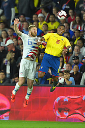 March 21, 2019 - Orlando, Florida, USA - US defender Tim Ream (13) and Ecuador midfielder Antonio Valencia (16) in action during an international friendly between the US and Ecuador at Orlando City Stadium on March 21, 2019 in Orlando, Florida. ...©2019 Scott A. Miller. (Credit Image: © Scott A. Miller/ZUMA Wire)