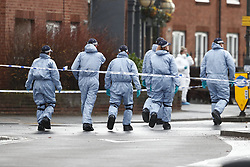 © Licensed to London News Pictures. 03/12/2018. London, UK. The scene in Wimbledon after a man was shot by police ona pre-planned operation. Photo credit: Peter Macdiarmid/LNP