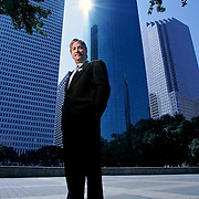 Don Harsell, Commissioner and Managing Director of World Air League, is trying to create a world sky race, which will include several air ships racing across the globe. <br />Monday, Aug. 4, 2008, in Houston.