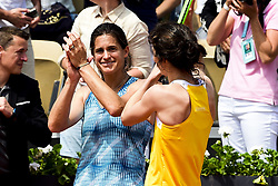 June 9, 2018 - Paris, France, France - joie de Amelie Mauresmo (Fra) / Nathalie Dechy (Fra) - Finale Trophee des Legendes Femmes. (Credit Image: © Panoramic via ZUMA Press)