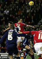 Photo: Paul Thomas.<br /> Nottingham Forest v Leyton Orient. Coca Cola League 1. 16/12/2006.<br /> <br /> Ian Breckin (6) of Forest scores to get Forest back in the match.