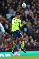 Aston Villa v Derby County - Sky Bet Championship<br /> BIRMINGHAM, ENGLAND - APRIL 28 :  Curtis Davies, of Derby County, heads the ball clear, at Villa Park
