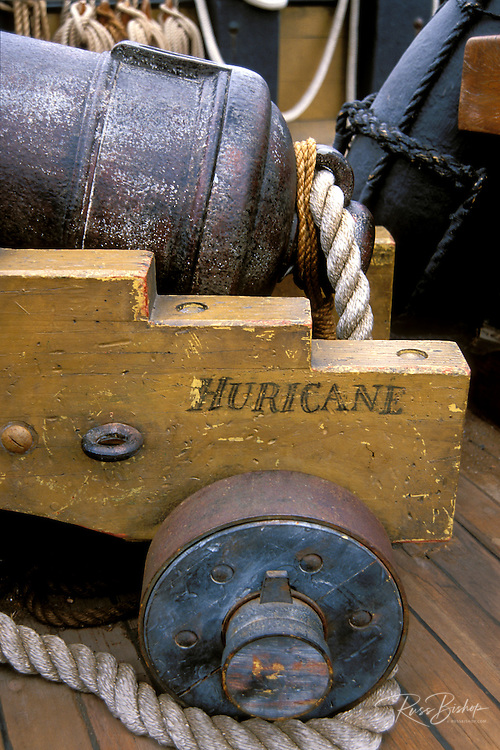 "Cannon on the H.M.S. Surprise at the San Diego Maritime Museum (from the film ""Master and Commander""), San Diego, California"