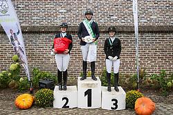 Podium 6 jaar, Rombouts Stijn<br /> Nationaal Kampioenschap LRV <br /> Paarden Dressuur - Oudenaarde 2020<br />  04/10/2020