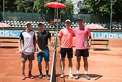 Tennis players during final of Drzavno prvenstvo v tenisu za clane in clanice, on June 27th, 2019 in Maribor, Slovenia. Photo by Milos Vujinovic / Sportida