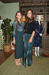 Left to right, LAVINIA BRENNAN and LADY NATASHA RUFUS ISAACS at a private view of the Beulah Winter Autumn Winter collection entitled 'Chrysalis' held at The South Kensington Club, London SW7 on 24th September 2015.