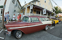 (Karen Bobotas/for the Laconia Daily Sun)Cruise Night Parade through Meredith, NH  August 20, 2011.