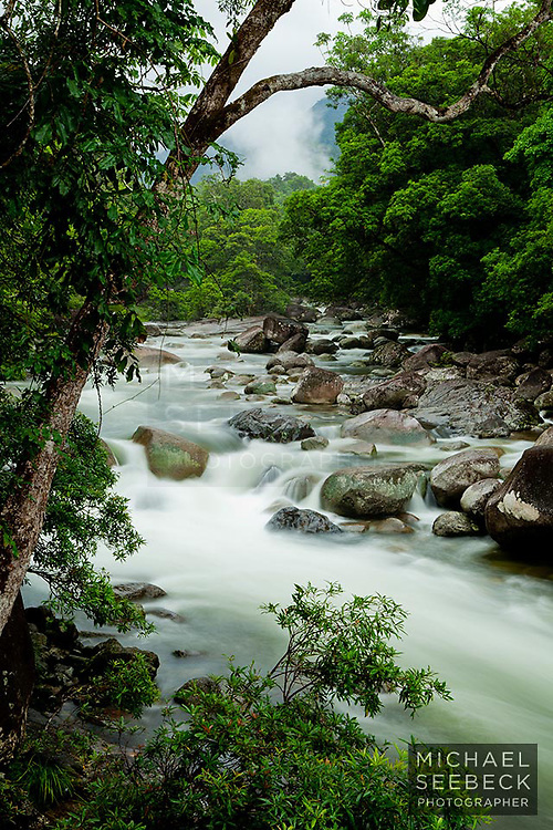 Looking upstream at Mossman Gorge.<br /> <br /> Open Edition Print / Stock Image