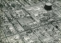 1929 Aerial view of United Artist Studios. Formerly Pickford Fairbanks Studio