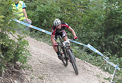 01.06.2014, Bullentaele, Albstadt, GER, UCI Mountain Bike World Cup, Cross Country Herren, im Bild Maximilian Holz Deutschland // during Mens Cross Country Race of UCI Mountainbike Worldcup at the Bullentaele in Albstadt, Germany on 2014/06/01. EXPA Pictures © 2014, PhotoCredit: EXPA/ Eibner-Pressefoto/ Langer<br /> <br /> *****ATTENTION - OUT of GER*****