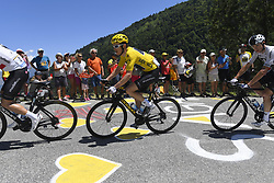 July 19, 2018 - Alpe D Huez, France - ALPE D'HUEZ, FRANCE - JULY 19 : THOMAS Geraint (GBR) of Team SKY, FROOME Chris (GBR) of Team SKY during stage 12 of the 105th edition of the 2018 Tour de France cycling race, a stage of 175.5 kms between Bourg-Saint-Maurice Les Arcs and Alpe D'huez on July 19, 2018 in Alpe D'huez, France, 19/07/2018 (Credit Image: © Panoramic via ZUMA Press)