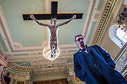 For Pete's Sake - A life-size statue of Doherty being crucified unveiled at London's St.Marylebone Parish Church as part of a temporary exhibition Stations of the Cross. It is on sale for £33k and was originally made in 2008 as collaboration between Pete Doherty and the artist Nick Reynolds. This is the first time the sculpture has been seen in public and it appears in the middle of the historic 200 year old church alongside other works that reference the Passion of Christ by artists including Paul Benney, Nasser Azam, Angelica Cayzer, Wolfe Lenkiewicz and Charlie Mackesy.