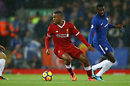 Daniel Sturridge of Liverpool in action. Premier League match, Liverpool v Chelsea at the Anfield stadium in Liverpool, Merseyside on Saturday 25th November 2017.<br /> pic by Chris Stading, Andrew Orchard sports photography.
