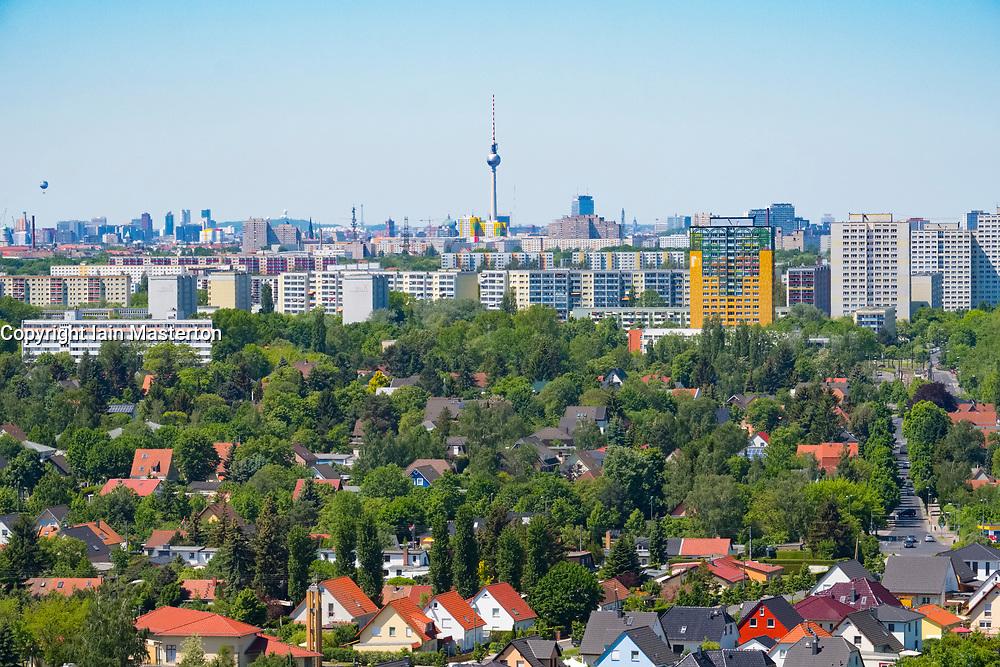 Skyline of Berlin from IFA 2017 International Garden Festival (International Garten Ausstellung) in Berlin, Germany