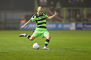 Forest Green Rovers Liam Noble(15) puts in a cross during the Vanarama National League match between Forest Green Rovers and Dover Athletic at the New Lawn, Forest Green, United Kingdom on 17 December 2016. Photo by Shane Healey.