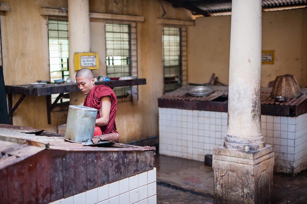 Kha Khat Wain Kyaung Monastery Kitchen (Bago, Myanmar)
