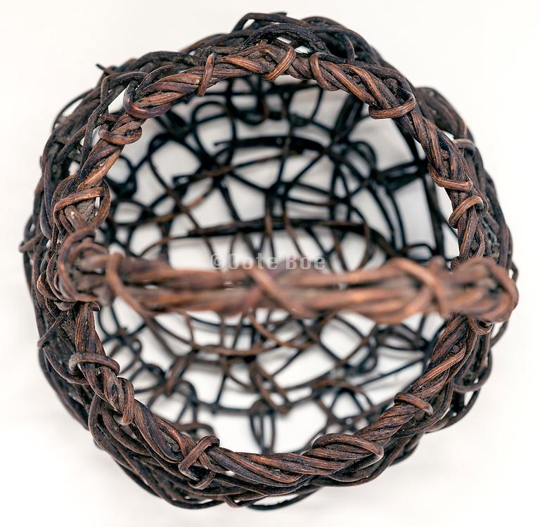 plant wicker basket close up still life