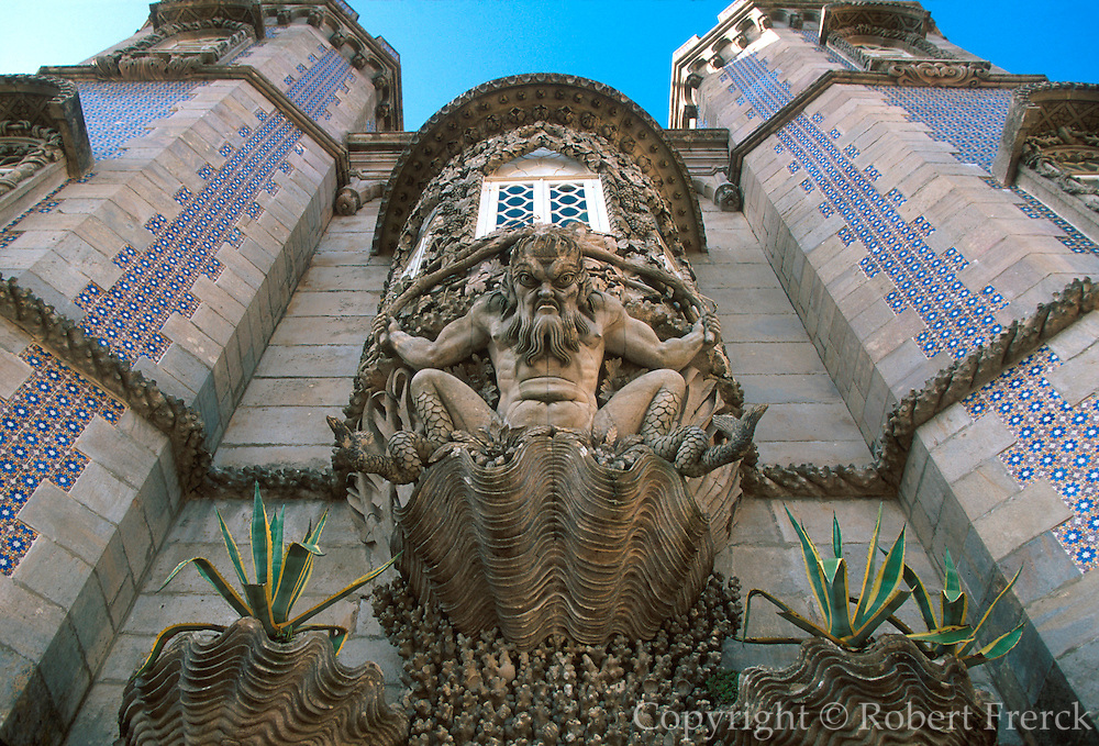 PORTUGAL, SINTRA Pena Palace; architectural fantasy