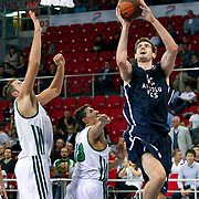 Anadolu Efes's Stanko BARAC (R) during their Two Nations Cup basketball match Anadolu Efes between Panathinaikos at Abdi Ipekci Arena in Istanbul Turkey on Saturday 01 October 2011. Photo by TURKPIX