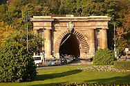 Szecheni Lanchid ( Chain Bridge ) Tunnel. Budapest Hungary