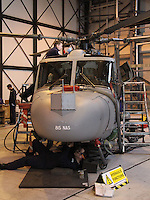 Royal Navy Westland Lynx Royal Naval Air Station Yeovilton Base Tour, UK, 25 November 2010: piQtured Sales: Ian@Piqtured.com +44(0)791 626 2580 (picture by Richard Goldschmidt)
