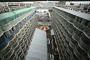 Oasis of the Seas at the shipyard in Turku, Finland where she is being built..Photos show Royal Caribbean's latest  ship 2 months before completion. .The Boardwalk.