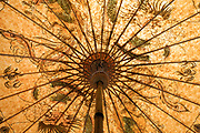 old style Asian paper umbrella against the sun
