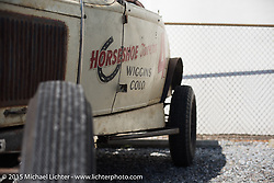 Tyler Hardie's 1931 Ford A Roadster 4-Banger from Denver, CO as Hot Rods assemble on Friday before the Race of Gentlemen. Wildwood, NJ, USA. October 9, 2015.  Photography ©2015 Michael Lichter.