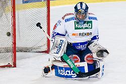 Bernhard Starkbaum (EC Rekord-Fenster VSV, #29) during ice-hockey match between HDD Tilia Olimpija and EC Rekord-Fenster VSV in 31st Round of EBEL league, on December 28, 2010 at Hala Tivoli, Ljubljana, Slovenia. (Photo By Matic Klansek Velej / Sportida.com)